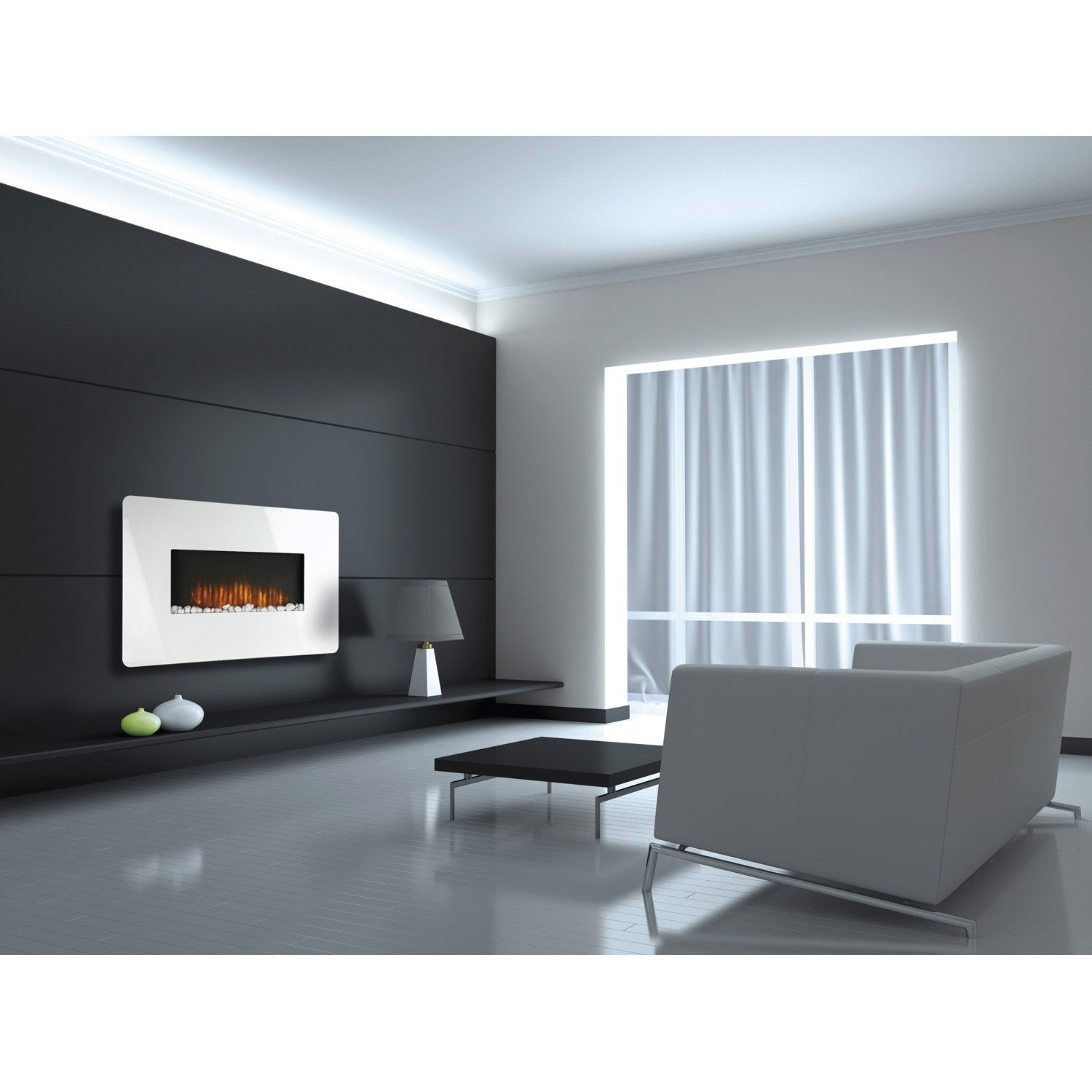 cheminee electrique leroy merlin. Black Bedroom Furniture Sets. Home Design Ideas
