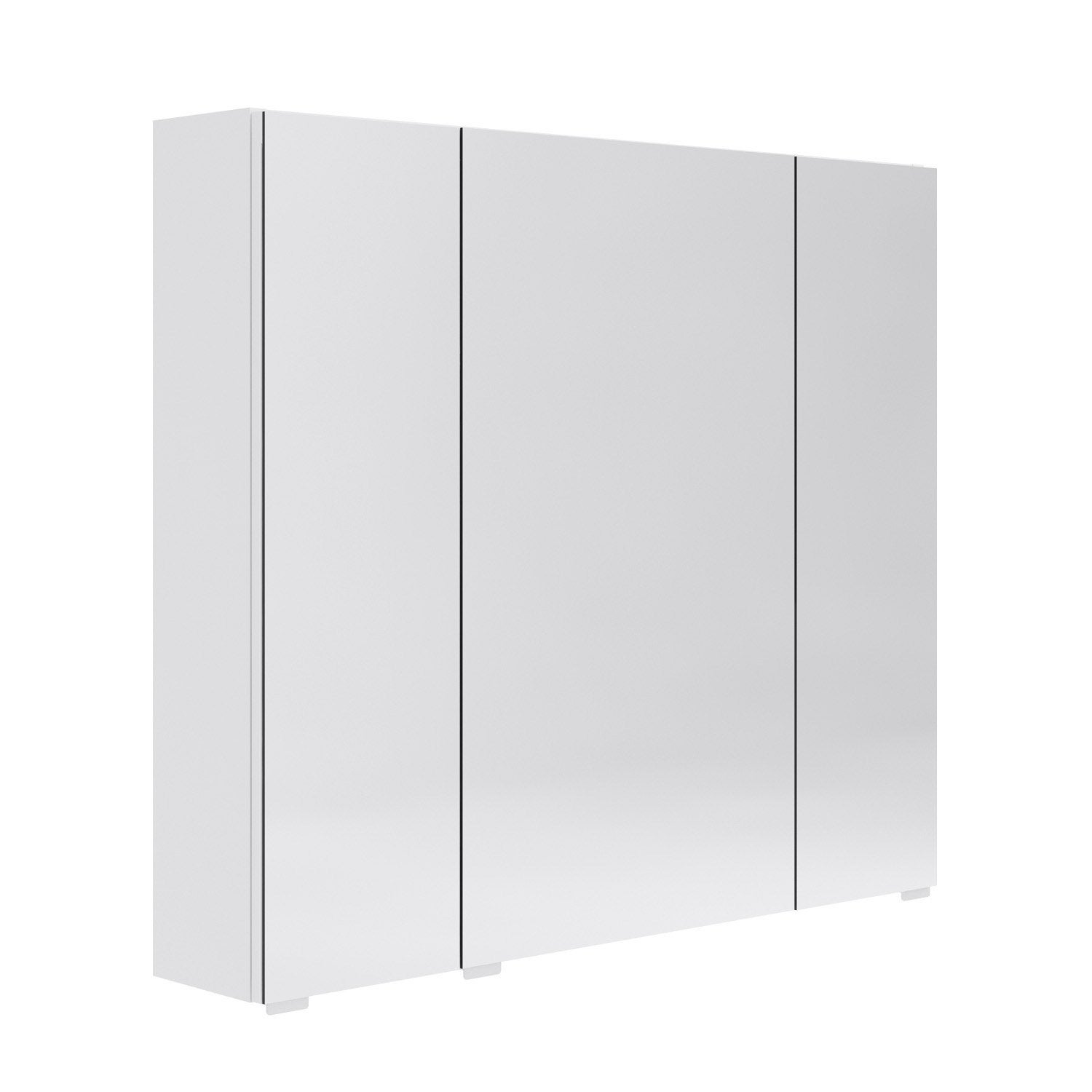 armoire de toilette l 80 cm blanc opale leroy merlin. Black Bedroom Furniture Sets. Home Design Ideas