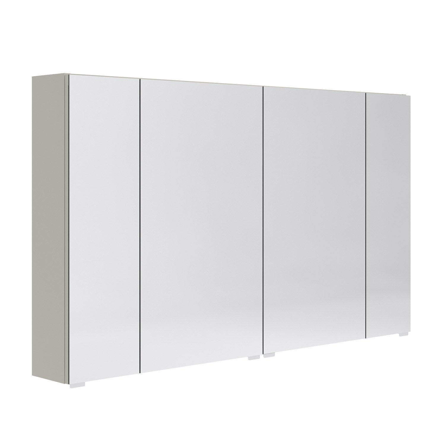 Armoire de toilette l 120 cm beige opale leroy merlin for Meuble de toilette leroy merlin