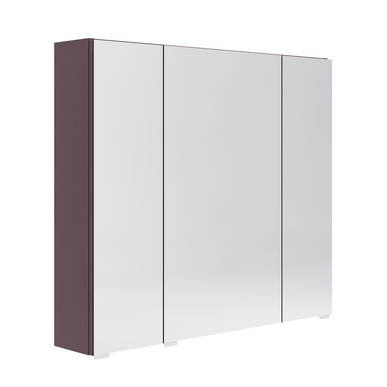 Armoire de toilette l 80 cm aubergine opale leroy merlin for Armoire de toilette but