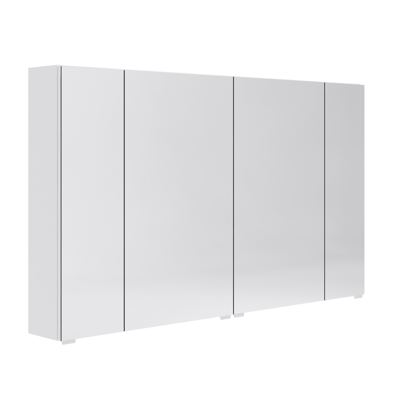 armoire de toilette l 120 cm blanc opale leroy merlin. Black Bedroom Furniture Sets. Home Design Ideas