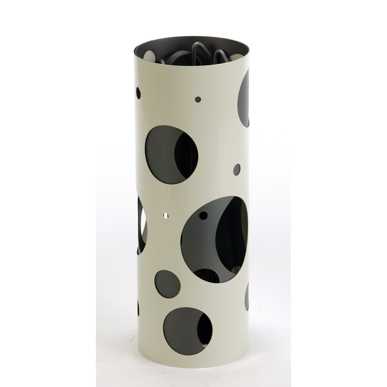 Serviteur en acier atelier dix neuf oxygen ivoire taupe 4 accessoires leroy merlin - Serviteur cheminee leroy merlin ...