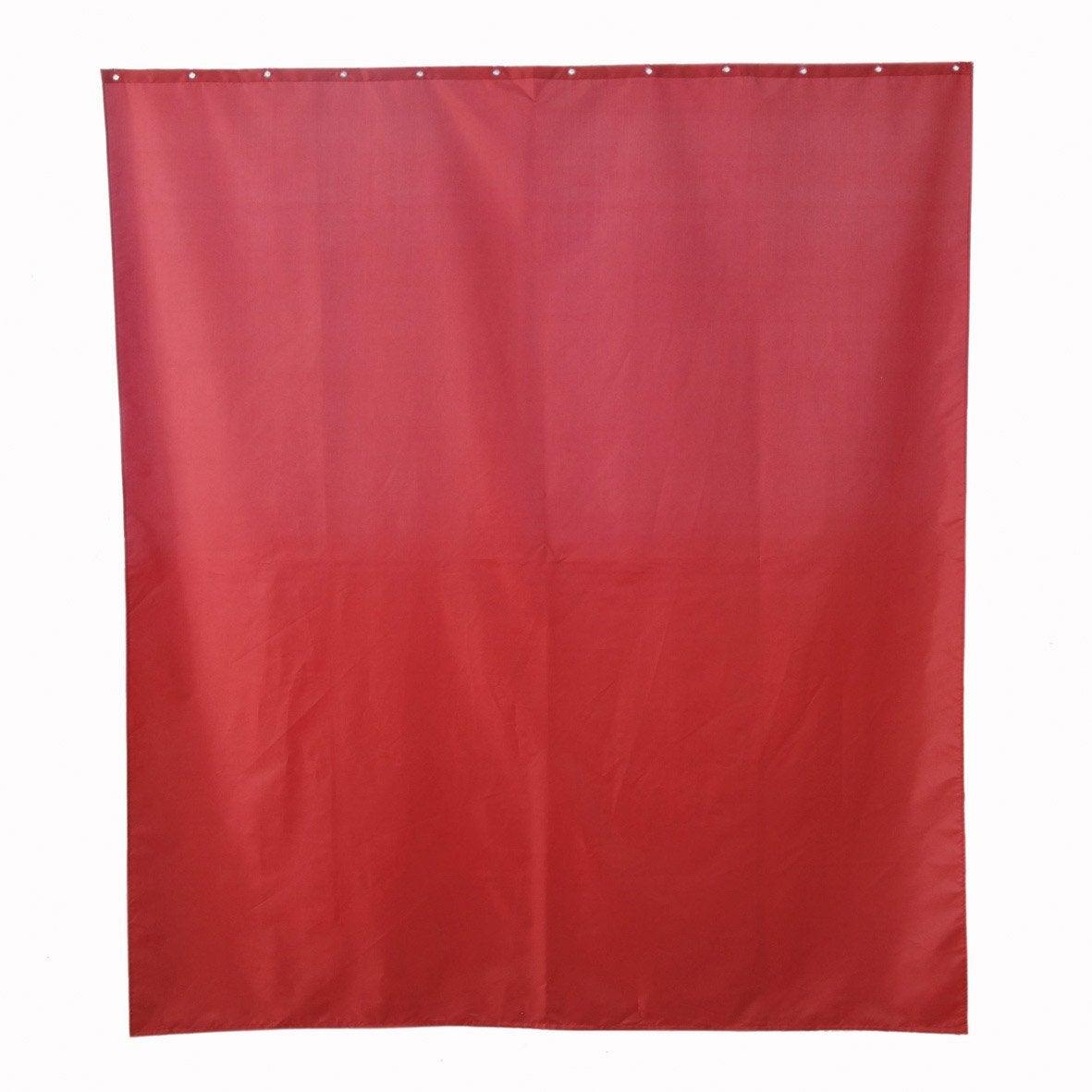 Rideau de douche en textile rouge rouge n 3 x - Rideau de douche rouge ...