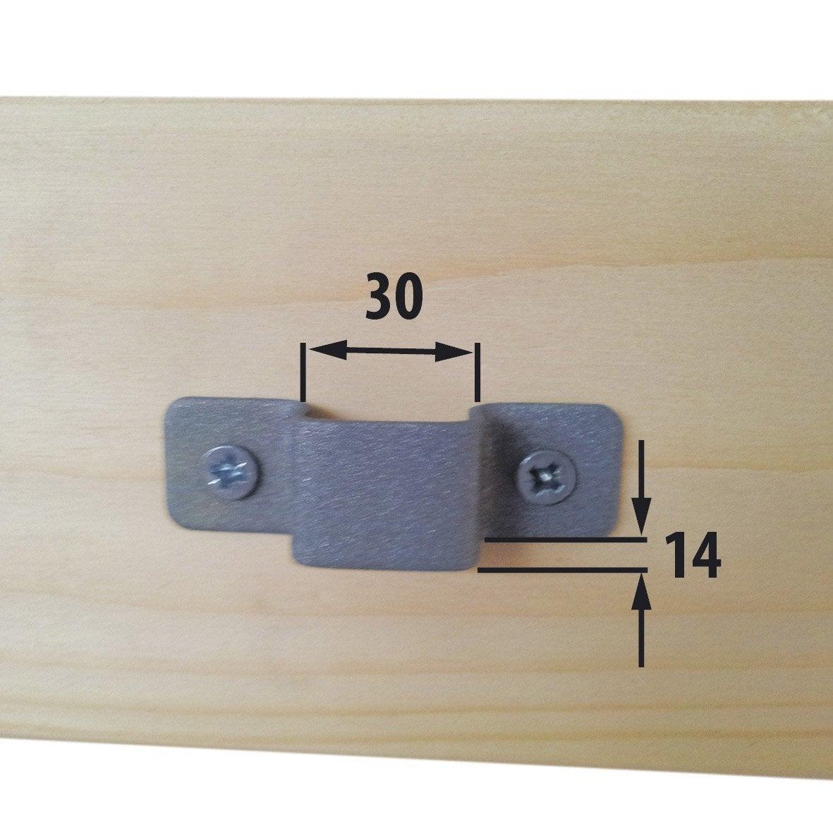 gache pour verrou 30 x 14 mm leroy merlin. Black Bedroom Furniture Sets. Home Design Ideas