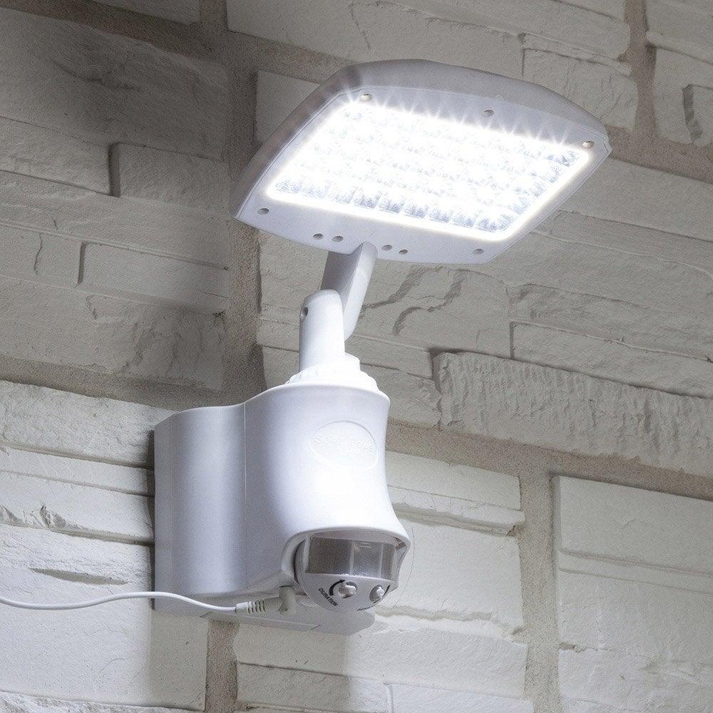 Projecteur d tection solaire cara bes 270 lm blanc for Applique murale exterieure avec detecteur leroy merlin