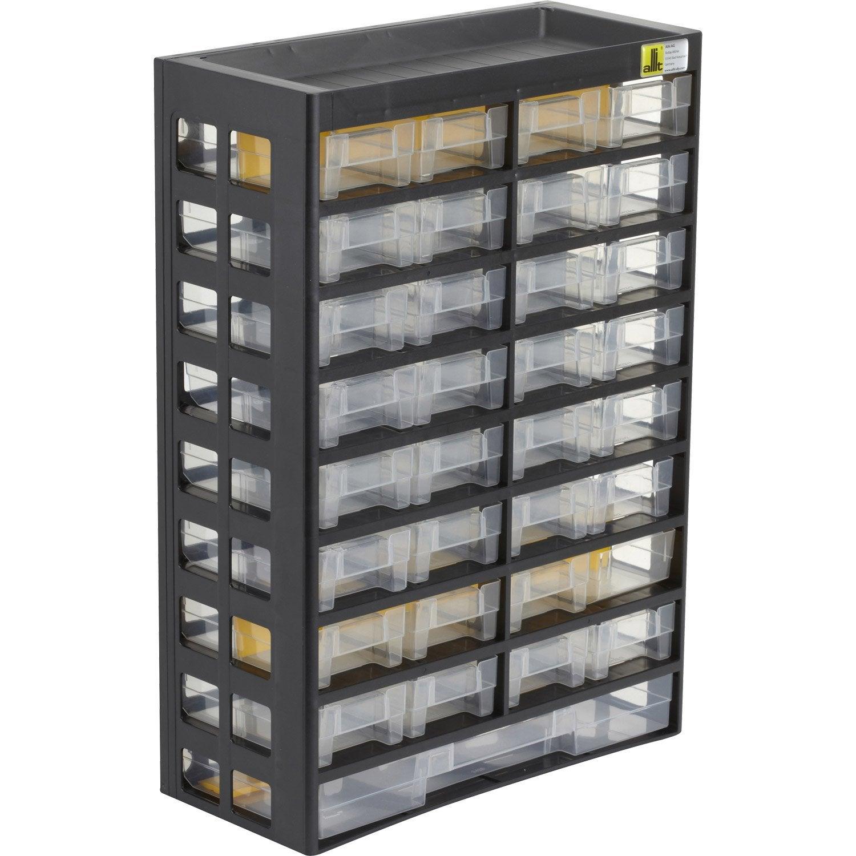 casier vis plastique 33 tiroirs leroy merlin. Black Bedroom Furniture Sets. Home Design Ideas