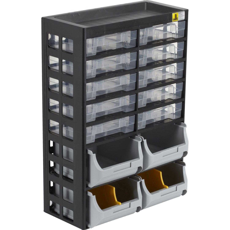 Casier à vis en plastique 10 tiroirs , haut. 43.5 x larg. 30.3 x prof. 16.8 cm | Leroy Merlin