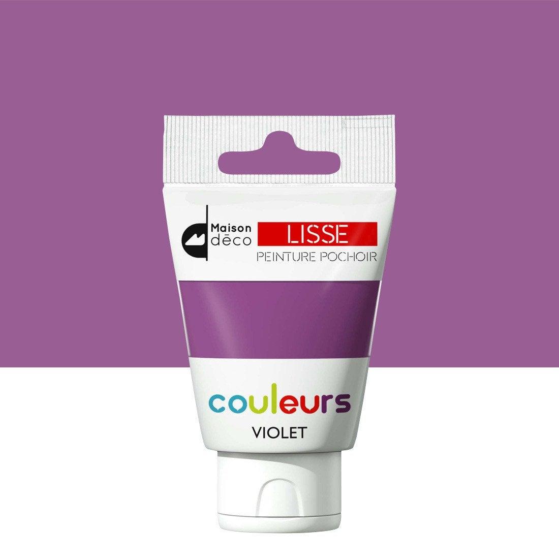 Peinture pochoir couleur maison deco violet l for Peinture violet salin