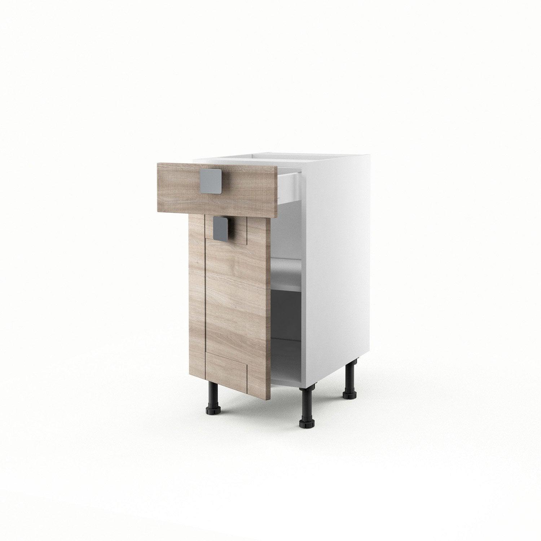 meuble de cuisine bas d cor ch ne 1 porte 1 tiroir karrey. Black Bedroom Furniture Sets. Home Design Ideas
