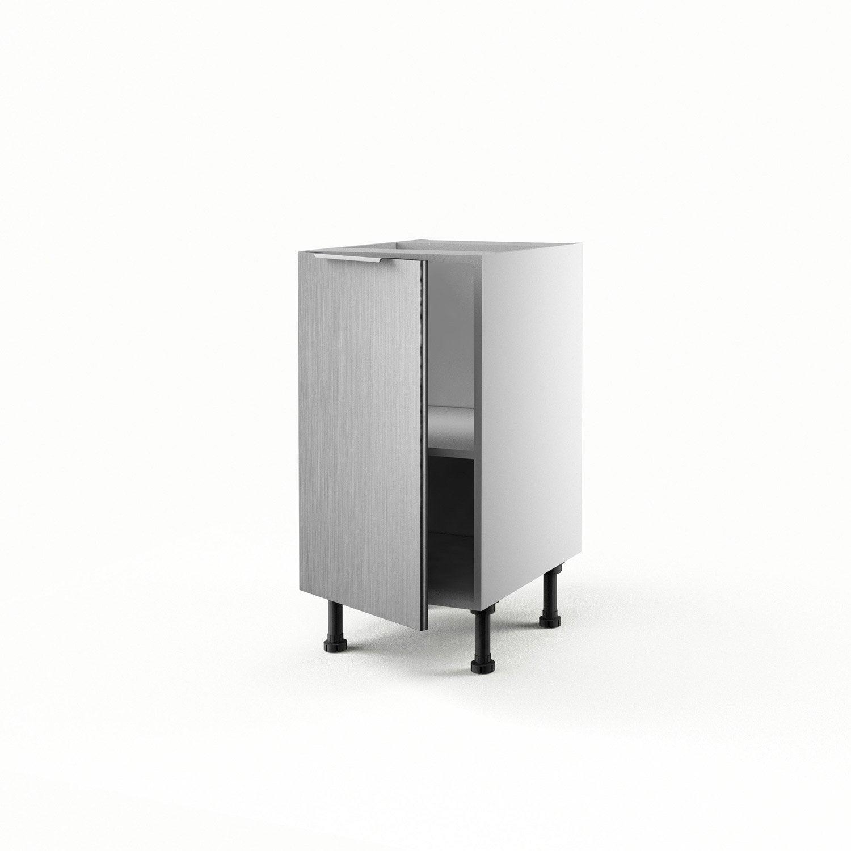 Meuble De Cuisine Bas D Cor Aluminium 1 Porte Stil X