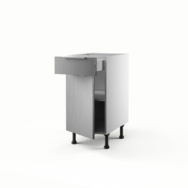 Meuble de cuisine bas aluminium 1 porte 1 tiroir stil for Meuble aluminium cuisine