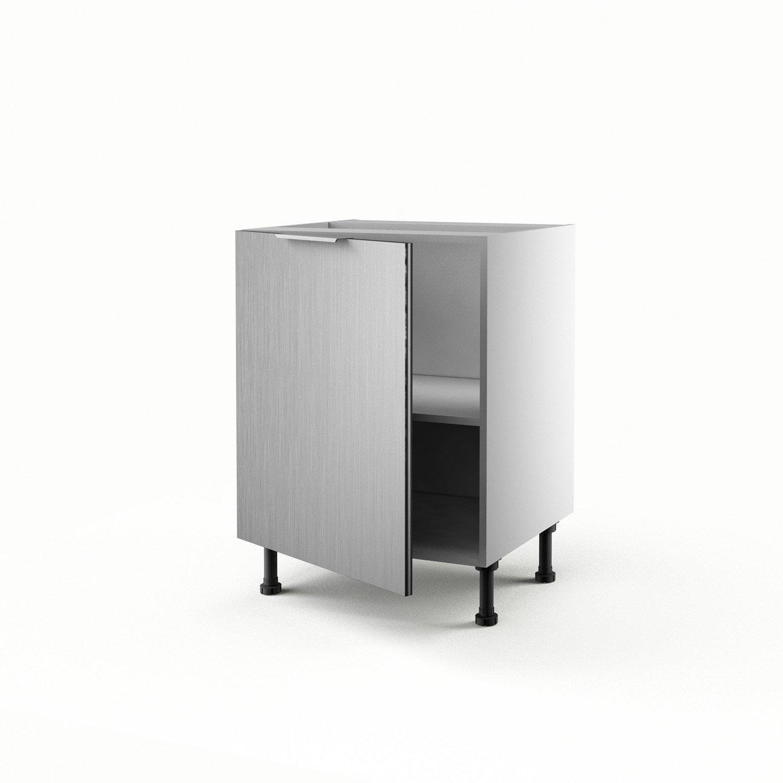 Meuble de cuisine bas d cor aluminium 1 porte stil x for Porte 60 x 70