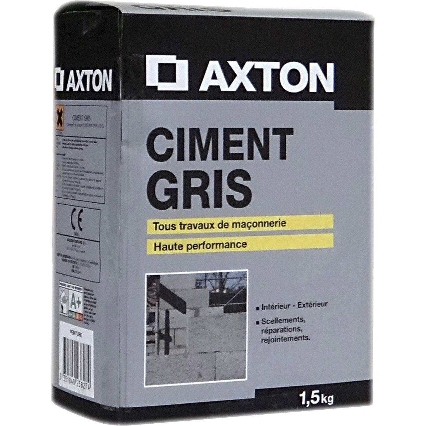 ciment gris ce axton 1 5 kg leroy merlin. Black Bedroom Furniture Sets. Home Design Ideas