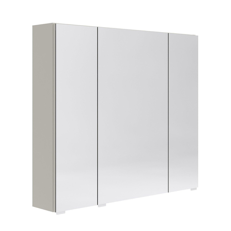 Armoire de toilette opale l80 x h70 x p15 4 leroy merlin - Meuble de toilette leroy merlin ...