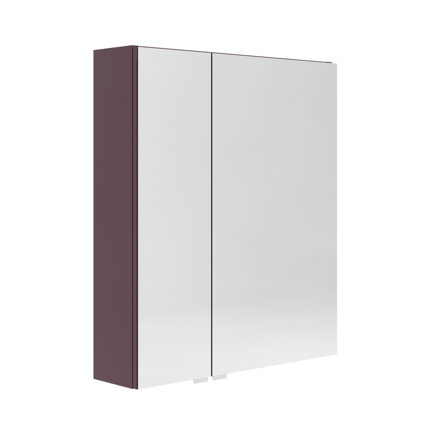 Armoire de toilette l 60 cm aubergine opale leroy merlin for Leroy merlin meuble toilette