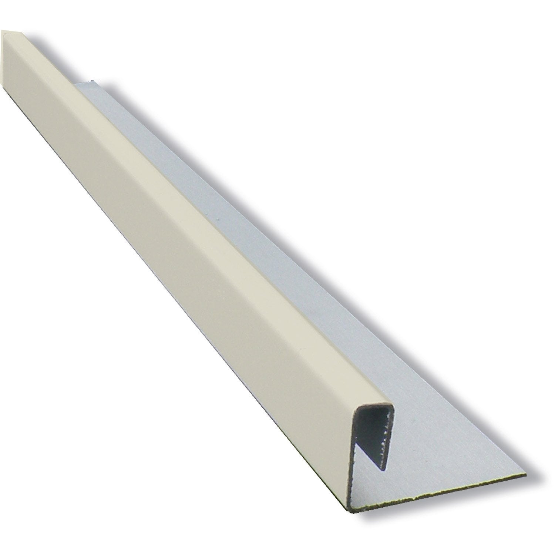 profil pour bardage aluminium blanc ivoire callibo 3 m leroy merlin. Black Bedroom Furniture Sets. Home Design Ideas
