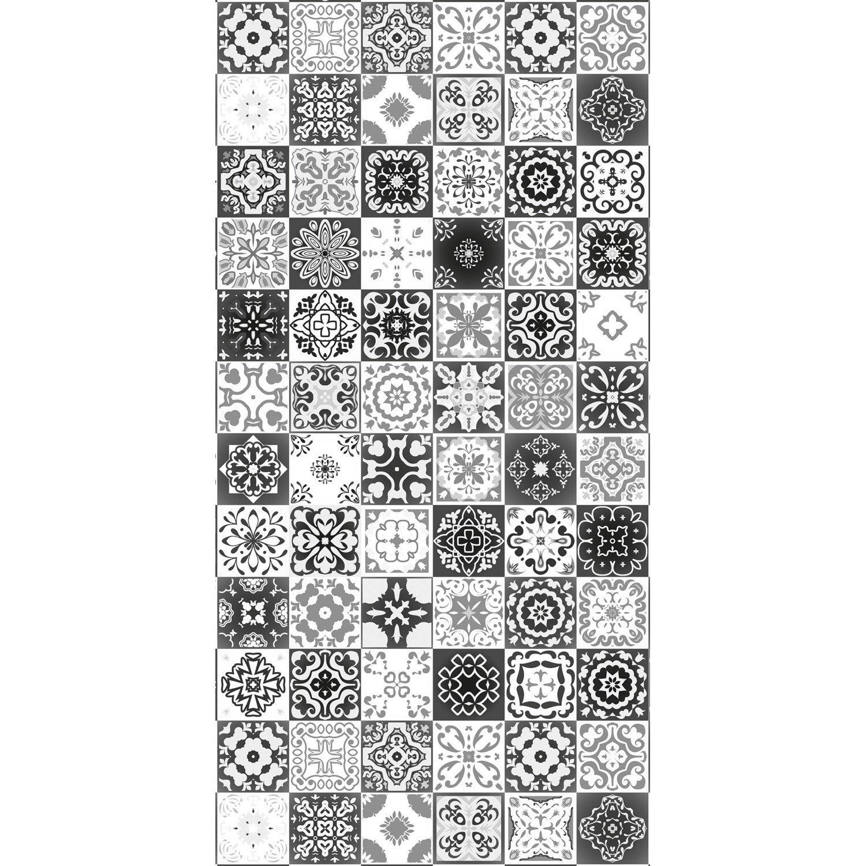 panneau cm x cm deco k in carreaux ciment noir mat leroy merlin. Black Bedroom Furniture Sets. Home Design Ideas