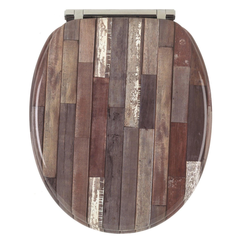 abattant frein de chute d clipsable multicolore bois compress grafitti leroy merlin. Black Bedroom Furniture Sets. Home Design Ideas