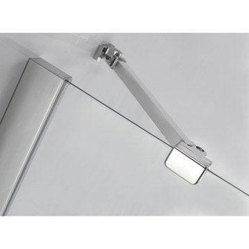 porte de douche battante sensea premium 2 verre transparent chrom leroy merlin. Black Bedroom Furniture Sets. Home Design Ideas