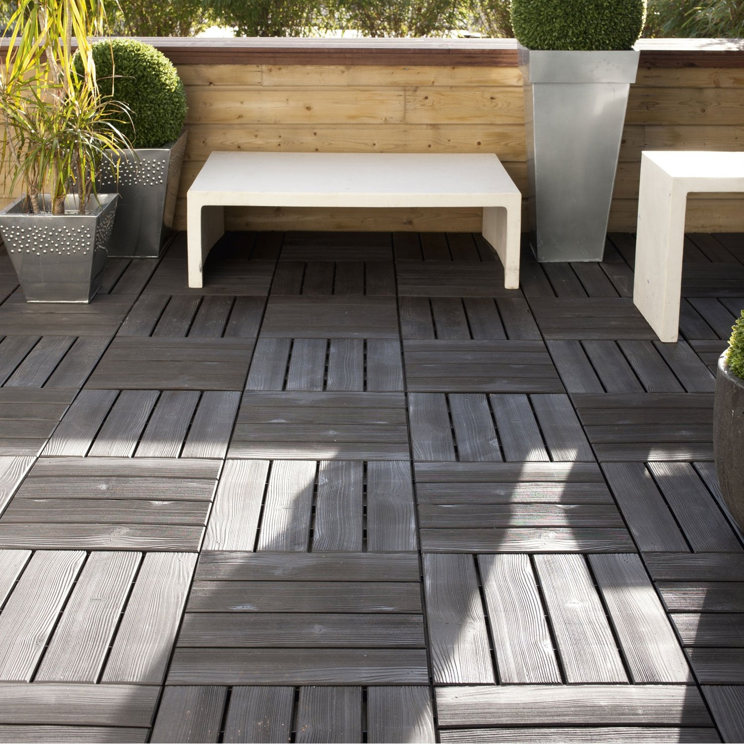 Dalle clipsable polypropyl ne noir x cm x ep - Dalle terrasse clipsable ...
