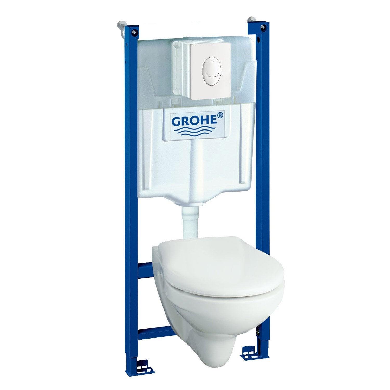 Pack wc suspendu b ti mur solido compact leroy merlin - Leroy merlin toilette suspendu ...