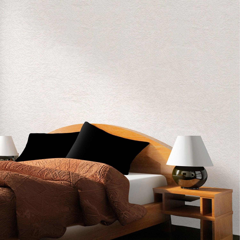 Papier peint vinyle expans sur papier vitoria blanc for Decoller papier peint vinyl