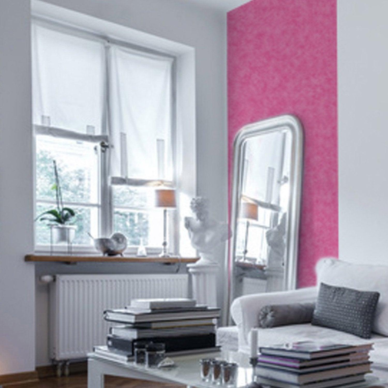 papier peint papier coloria rose leroy merlin. Black Bedroom Furniture Sets. Home Design Ideas