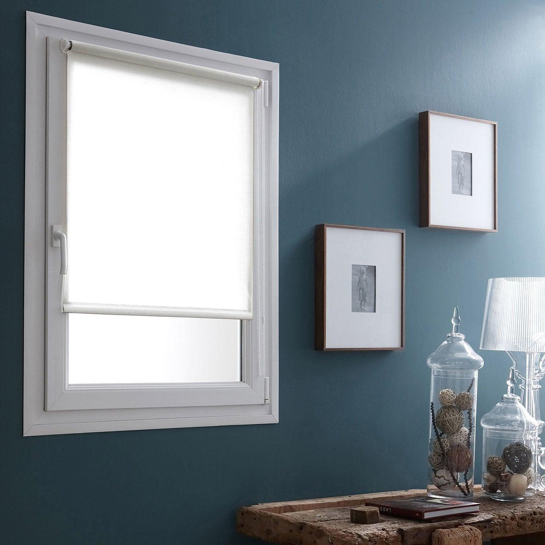 store enrouleur tamisant easy voilage blanc 40x170 cm. Black Bedroom Furniture Sets. Home Design Ideas