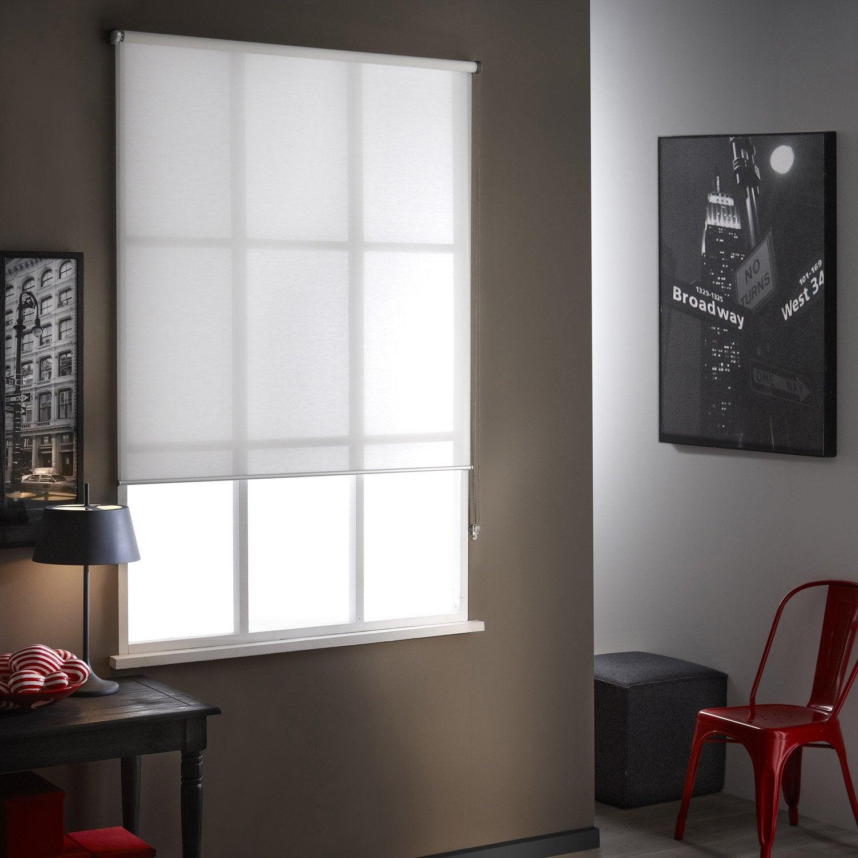 Store enrouleur tamisant mesh blanc 84 x 250 cm leroy merlin - Store lamelle verticale leroy merlin ...