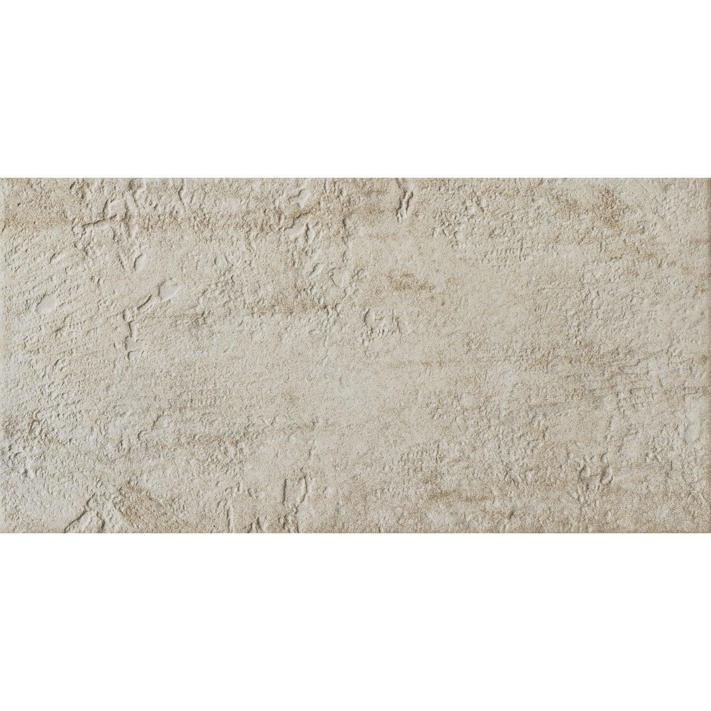 Carrelage sol et mur cr me vestige x cm leroy for Nivault carrelage salle de bain cuisiniste