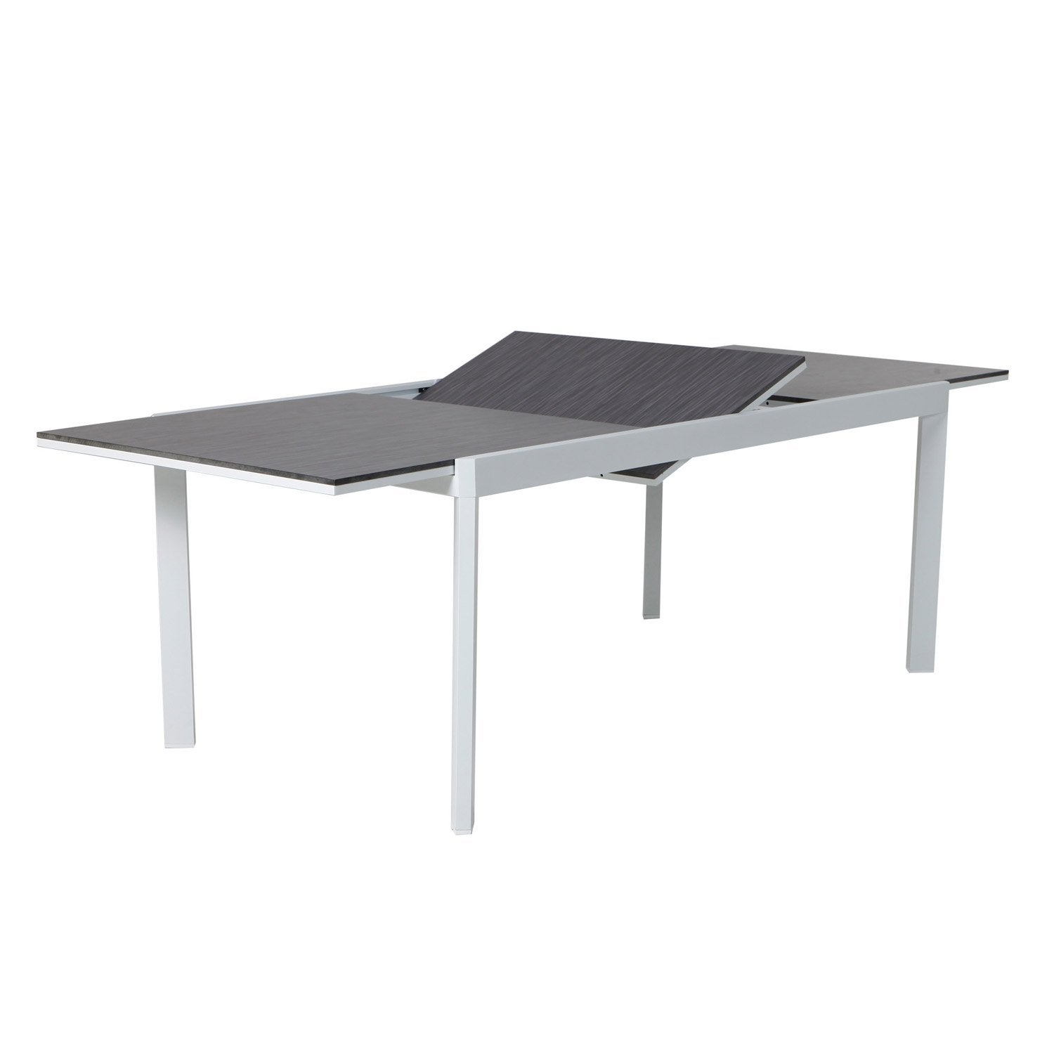 Table De Jardin Naterial Marbella Rectangulaire Gris 6