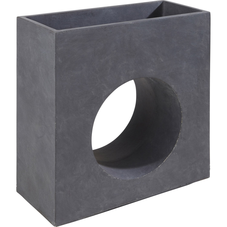 jardini re fibre x x cm gris anthracite. Black Bedroom Furniture Sets. Home Design Ideas