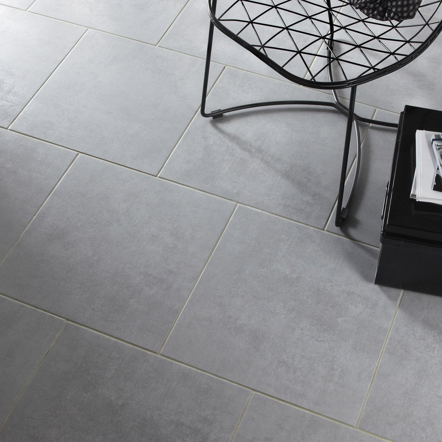 Carrelage 45x45 blanc for Carrelage exterieur gris anthracite