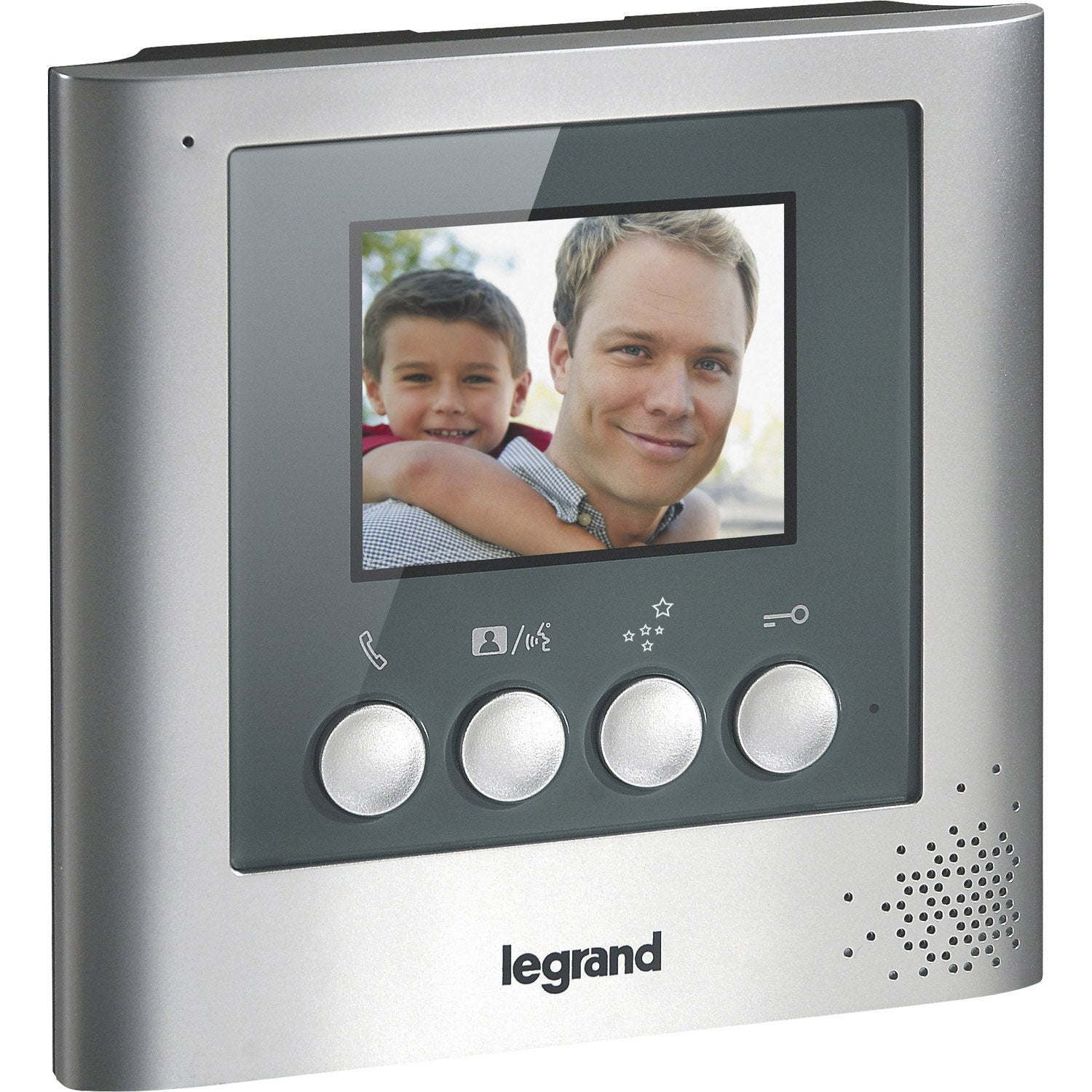 interphone visiophone 2 fils legrand 369100 leroy merlin. Black Bedroom Furniture Sets. Home Design Ideas