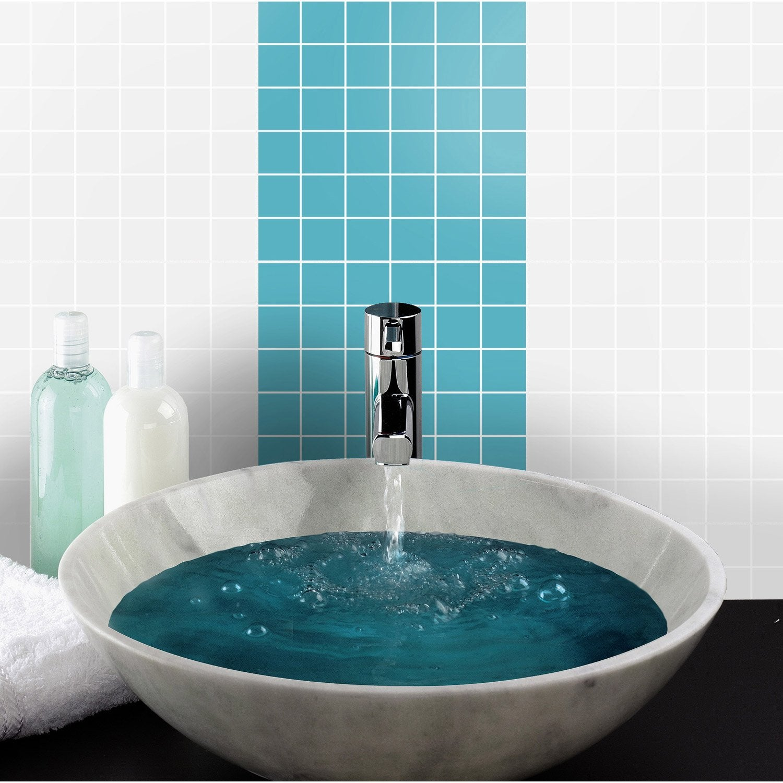 Mosa que mur astuce bleu atoll n 5 leroy merlin for Mosaique piscine leroy merlin