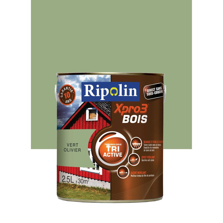 Peinture bois extérieur / intérieur Xpro 3 RIPOLIN, vert ...