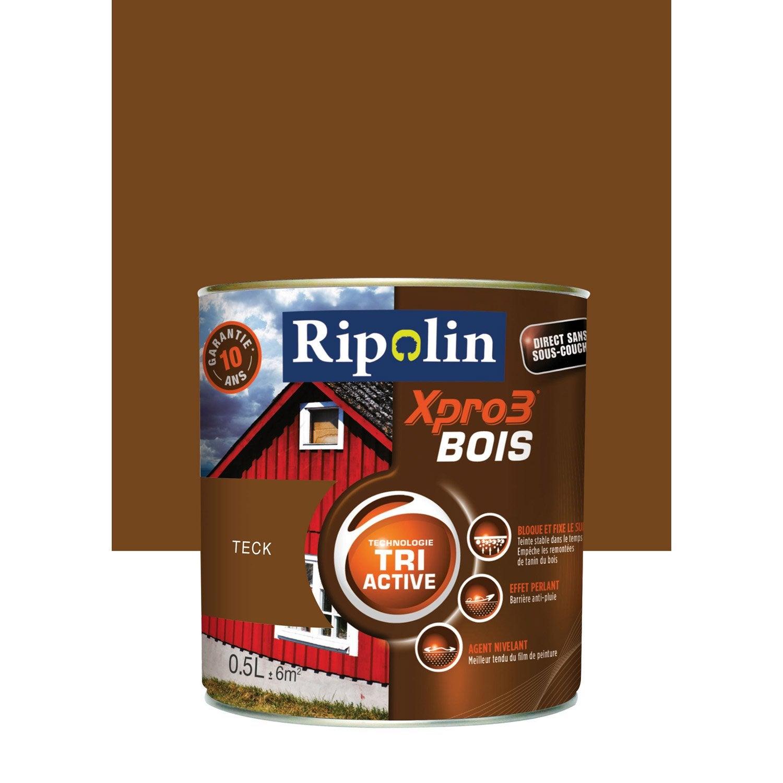 Peinture bois ext rieur int rieur xpro 3 ripolin teck for Peinture microporeuse bois exterieur tollens