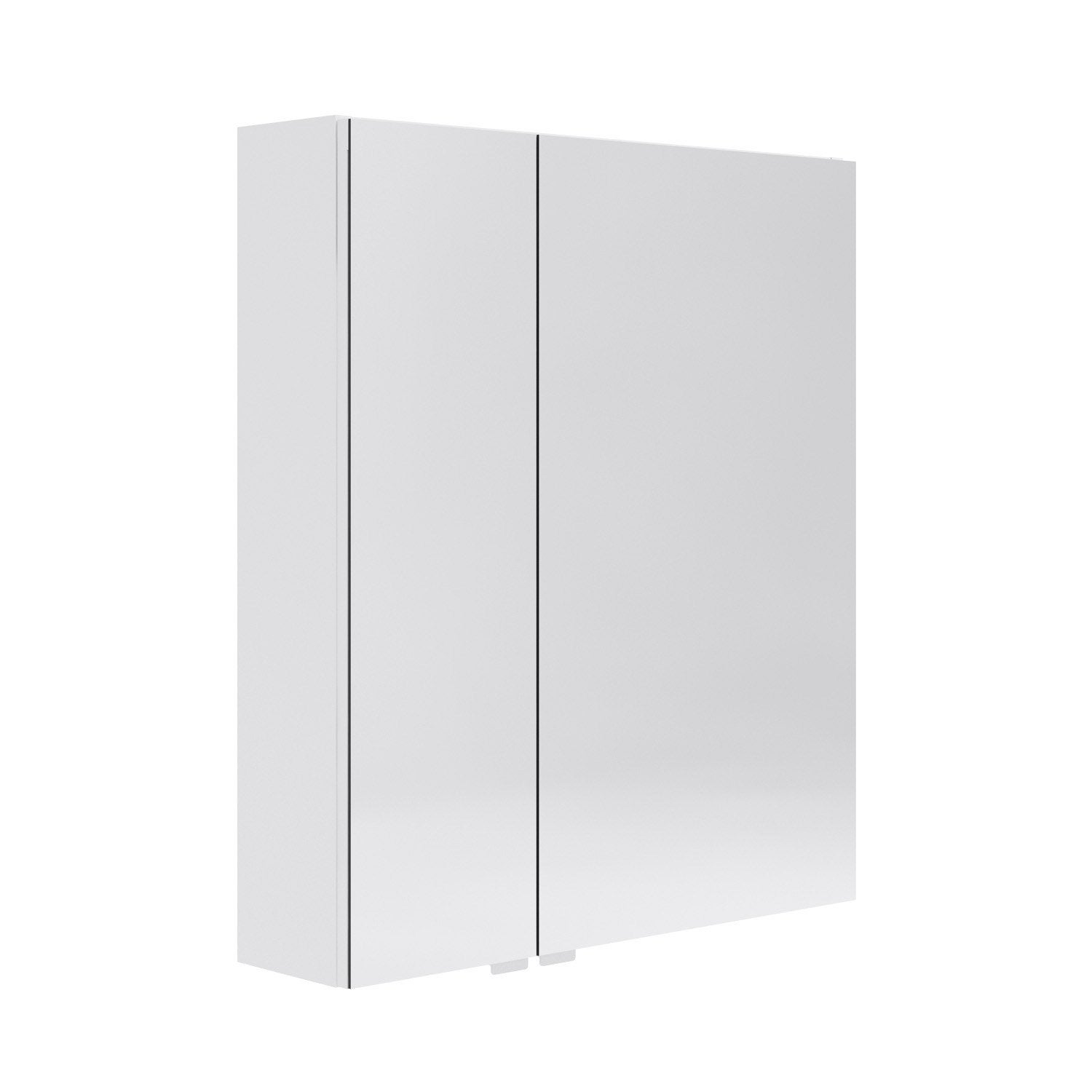 armoire de toilette l 60 cm blanc opale leroy merlin. Black Bedroom Furniture Sets. Home Design Ideas