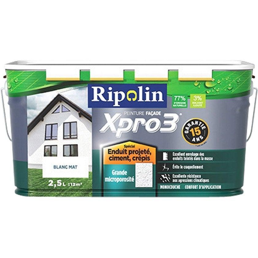 Peinture fa ade surface structur e xpro3 ripolin blanc 2 - Peinture facade leroy merlin ...