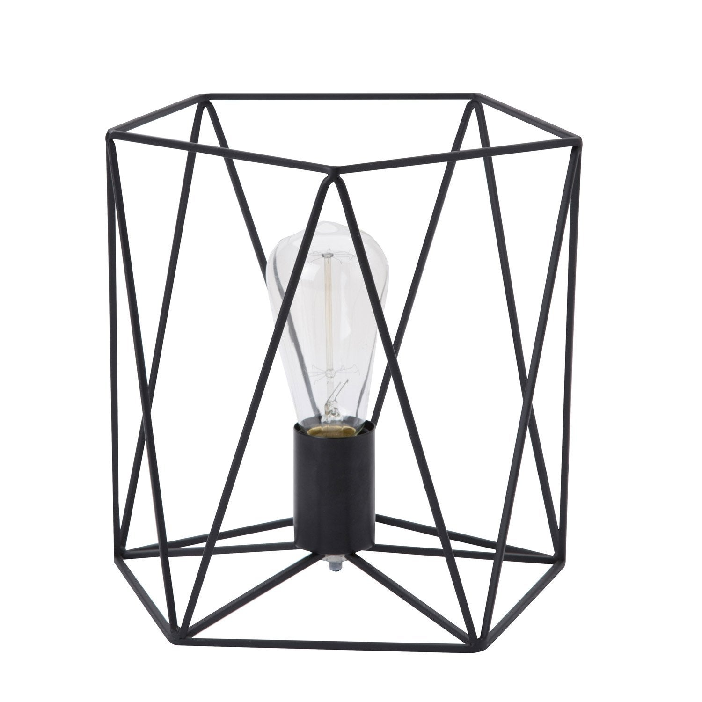 lampe andrews lussiol m tal noi 40 w leroy merlin. Black Bedroom Furniture Sets. Home Design Ideas