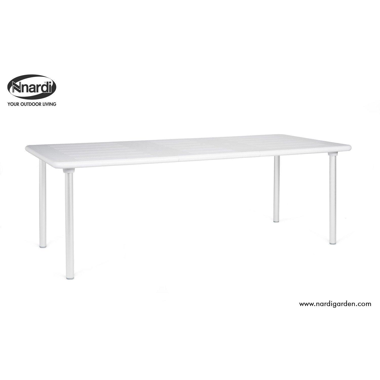 Table de jardin nardi maestrale rectangulaire blanc et - Leroy merlin jardin sevilla la rochelle ...