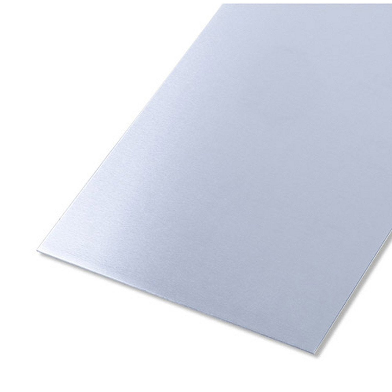 t 244 le lisse en aluminium brut 50 cm x larg 25 cm x 233 p 0 8 mm leroy merlin