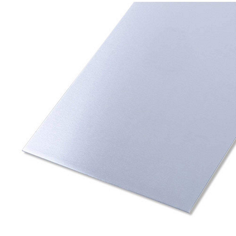 T le lisse en aluminium brut long 100 cm x larg 60 cm x p 0 8 mm leroy merlin - Prieel aluminium leroy merlin ...