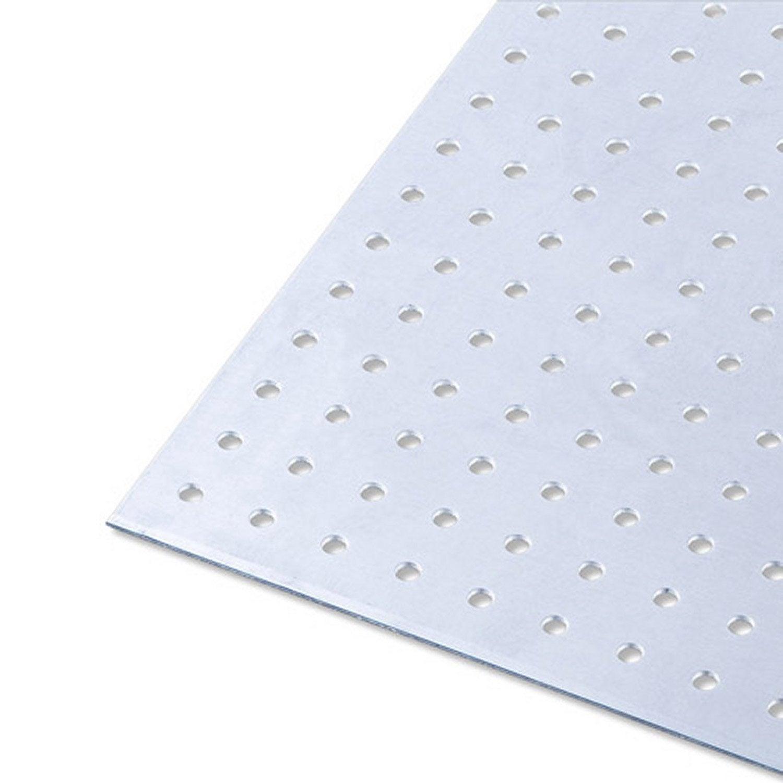 T le perfor en aluminium brut long 100 cm x larg 60 cm x p 1 5 mm leroy - Tole ondulee plastique leroy merlin ...