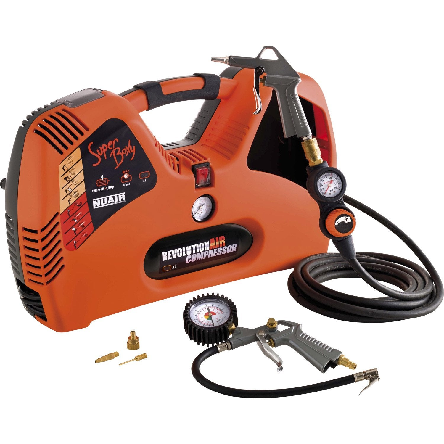 Compresseur de loisirs revolution 39 air 2 l 1 5 cv leroy merlin - Compresseur d air leroy merlin ...