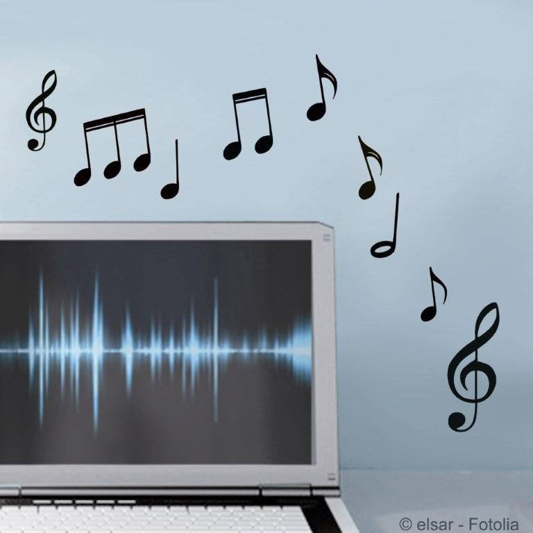Sticker musique 15 cm x 23 5 cm leroy merlin - Musique pub leroy merlin ...