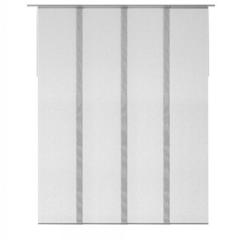 Kit complet panneaux japonais et rail inspire gris enduit x cm - Collection inspire leroy merlin ...