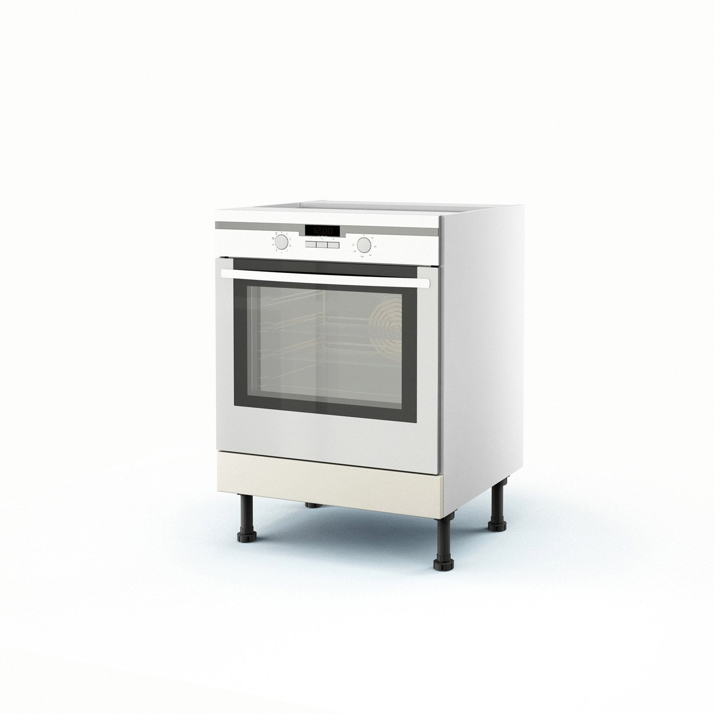 Meuble de cuisine bas chanvre four ol ron x x p - Facade meuble de cuisine leroy merlin ...