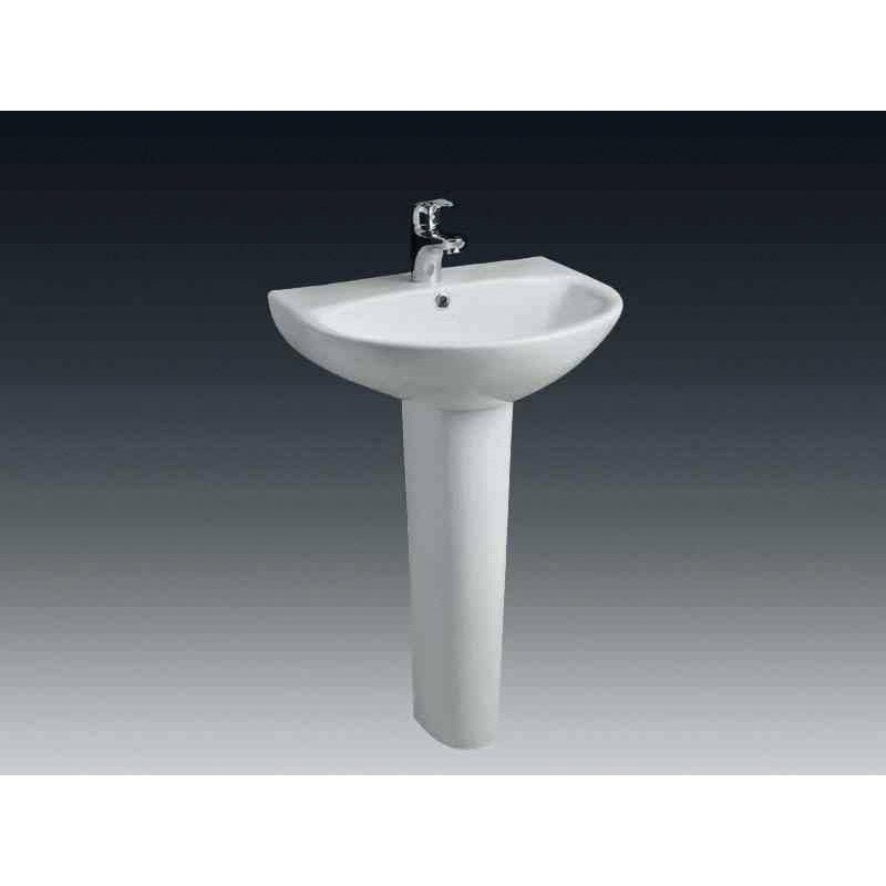 Colonne pour lavabo en c ramique blanc nerea leroy merlin for Evier salle de bain