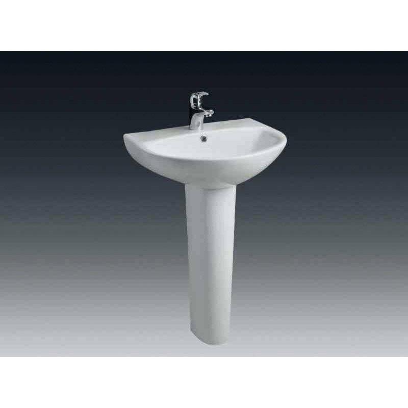 Lavabo Salle De Bain #4: Lavabo Pour Colonne En Céramique, Blanc Nerea